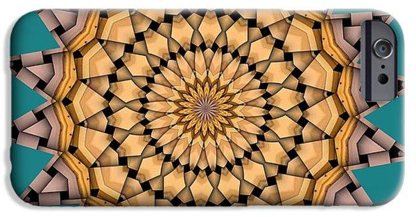 Kaleidoscope iPhone Cases - Kaleidoscope 7 iPhone Case by Ron Bissett