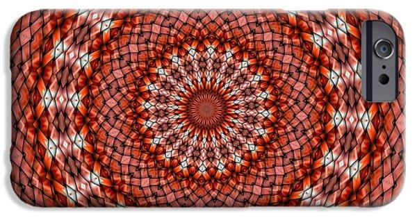 Kaleidoscope iPhone Cases - Kaleidoscope 8 iPhone Case by Ron Bissett