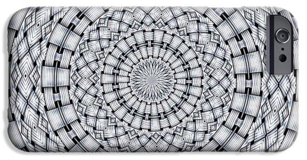 Kaleidoscope iPhone Cases - Kaleidoscope 9 iPhone Case by Ron Bissett