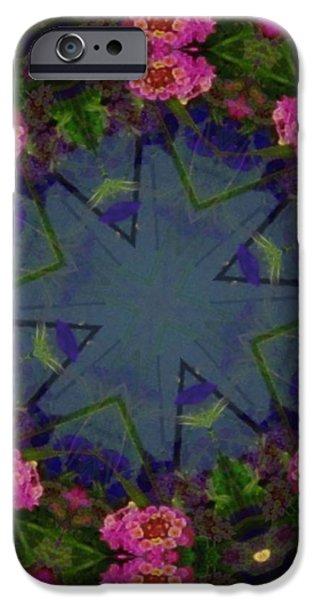 Kaleidoscope Lantana Wreath iPhone Case by Cathy Lindsey