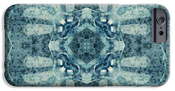 Wine Reflection Art iPhone Cases - Kaleidoscope wineglass iPhone Case by Toppart Sweden