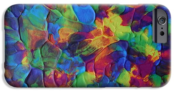 Kaleidoscopic Paintings iPhone Cases - Kaleidoscopic iPhone Case by Laura Tozer