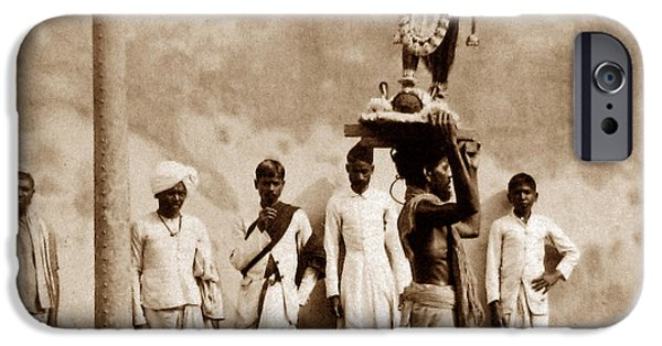 Hindu Goddess iPhone Cases - Kali The Terrible Calcutta India iPhone Case by The Keasbury-Gordon Photograph Archive