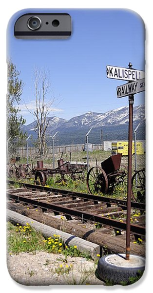 Daysray Photography iPhone Cases - Kalispell Crossing iPhone Case by Fran Riley