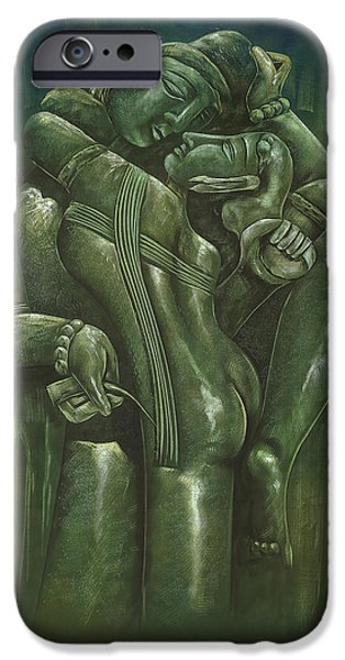 Hindu Goddess iPhone Cases - Khajuraho iPhone Case by Art Tantra