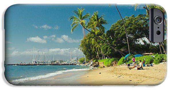 My Ocean iPhone Cases - Kamehameha Iki Park Beach Lahaina Maui Hawaii  iPhone Case by Sharon Mau