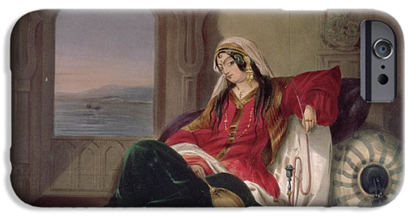 Hookah iPhone Cases - Kandahar Lady Of Rank iPhone Case by James Rattray