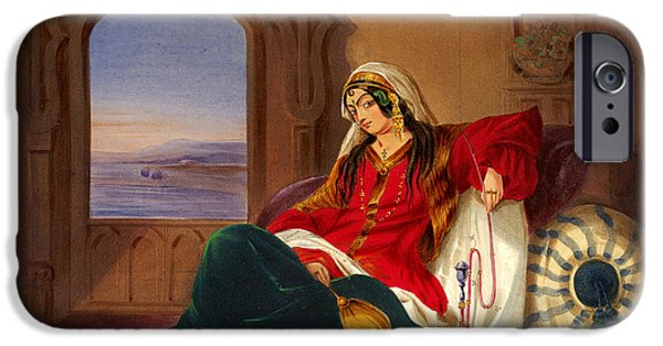 Religious Drawings iPhone Cases - Kandahar Lady of ranks iPhone Case by Celestial Images
