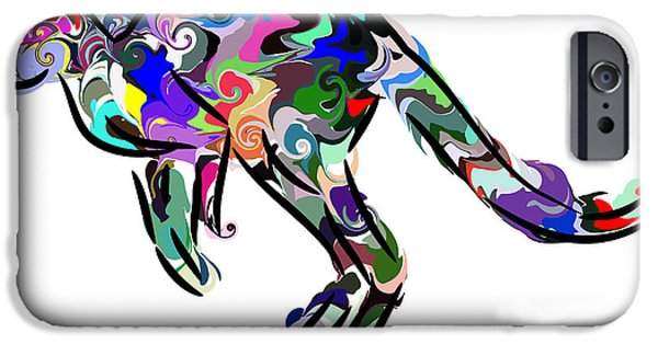 Kangaroo Digital Art iPhone Cases - Kangaroo 2 iPhone Case by Chris Butler