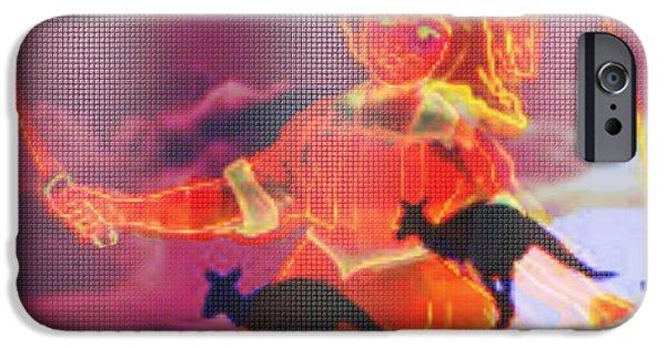 Kangaroo Digital Art iPhone Cases - Kangaroo Crossing iPhone Case by Meiers Daniel