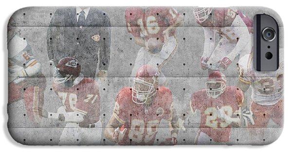 Chief iPhone Cases - Kansas City Chiefs Legends iPhone Case by Joe Hamilton