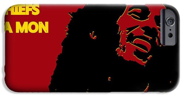 Drum Sets iPhone Cases - Kansas City Chiefs Ya Mon iPhone Case by Joe Hamilton