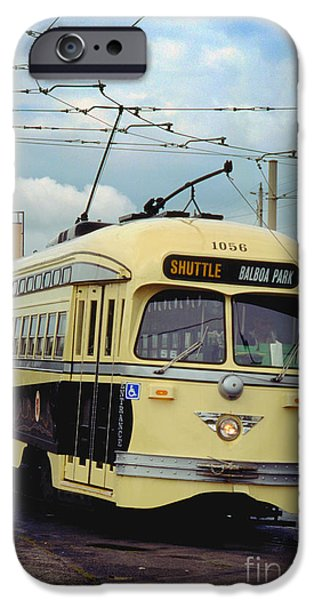 Pcc iPhone Cases - Kansas City-Missouri Tribute livery No. 1056 F-Line PCC San Fra iPhone Case by Wernher Krutein