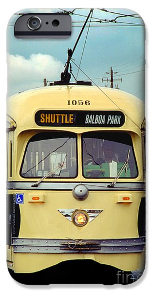 Pcc iPhone Cases - Kansas City-Missouri Tribute PCC Trolley San Francisco iPhone Case by Wernher Krutein