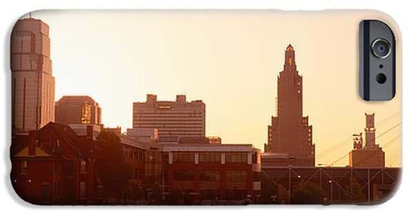 Morning iPhone Cases - Kansas City, Missouri, Usa iPhone Case by Panoramic Images