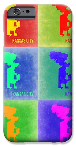 Kansas iPhone Cases - Kansas City Pop Art 1 iPhone Case by Naxart Studio