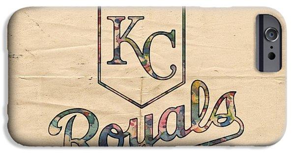 Bat Digital Art iPhone Cases - Kansas City Royals Poster Vintage iPhone Case by Florian Rodarte