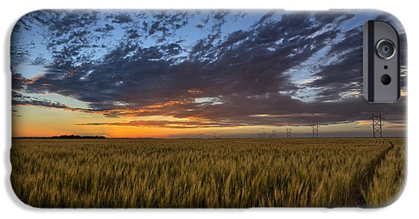 Farm iPhone Cases - Kansas Color iPhone Case by Thomas Zimmerman