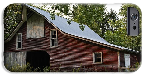 Barnstormer Photographs iPhone Cases - Kansas Hay Barn iPhone Case by Guy Shultz