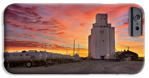 Silos iPhone Cases - Kansas Skyfire iPhone Case by Thomas Zimmerman