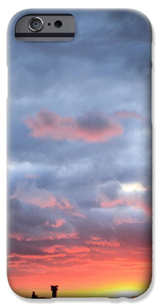 Traffic Control iPhone Cases - Kansas Sunset iPhone Case by JC Findley