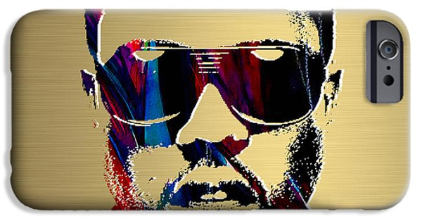 Kanye West iPhone Cases - Kanye West Gold Series iPhone Case by Marvin Blaine