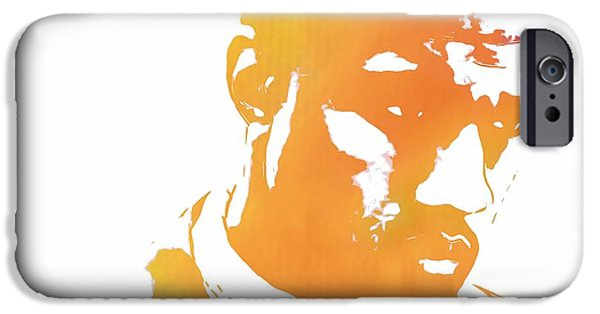 Jay Z iPhone Cases - Kanye West Pop Art iPhone Case by Dan Sproul