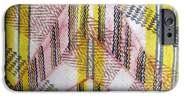 Tribal Tapestries - Textiles iPhone Cases - Kapa de Luisa 2 iPhone Case by Dalani Tanahy