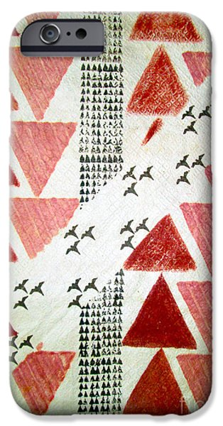 Flight Tapestries - Textiles iPhone Cases - Kapa Flight iPhone Case by Dalani Tanahy