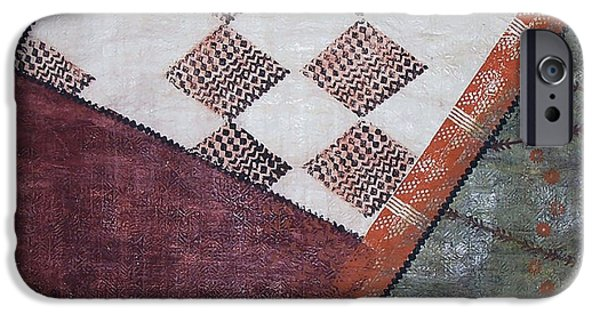 Tribal Tapestries - Textiles iPhone Cases - Kapa Kauai iPhone Case by Dalani Tanahy