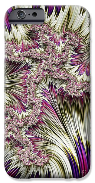 Mysterious Digital Art iPhone Cases - Kapow iPhone Case by John Edwards