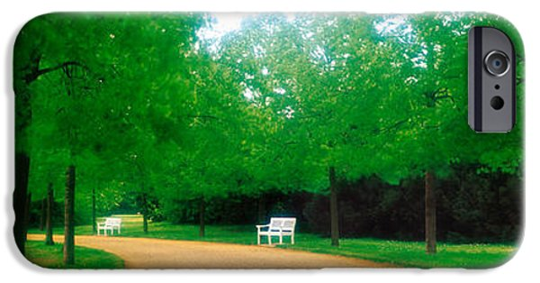 Pathway iPhone Cases - Karlsaue Park Kassel Germany iPhone Case by Panoramic Images