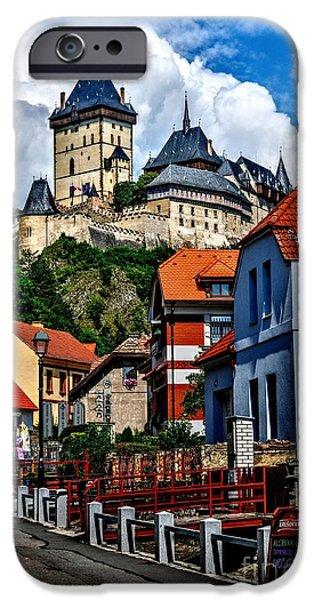 Roman Emperor iPhone Cases - Karlstejn Castle in Prague  iPhone Case by Joe  Ng