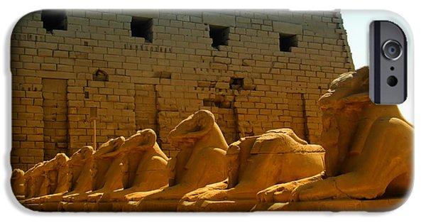Karnak iPhone Cases - Karnak Temple 01 iPhone Case by Antony McAulay