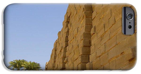 Karnak iPhone Cases - Karnak Temple 06 iPhone Case by Antony McAulay