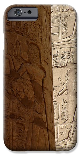 Thebes iPhone Cases - Karnak Temple 09 iPhone Case by Antony McAulay
