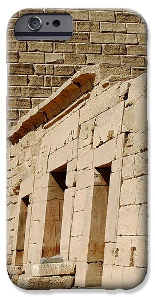 Karnak iPhone Cases - Karnak Temple 14 iPhone Case by Antony McAulay