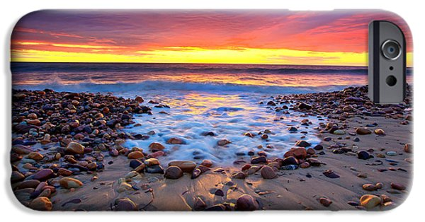 Beach iPhone Cases - Karrara Sunset iPhone Case by Bill  Robinson