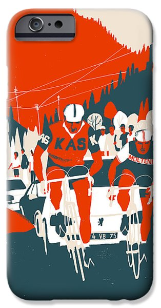 Cycling iPhone Cases - Kas-Molteni iPhone Case by Eliza Southwood