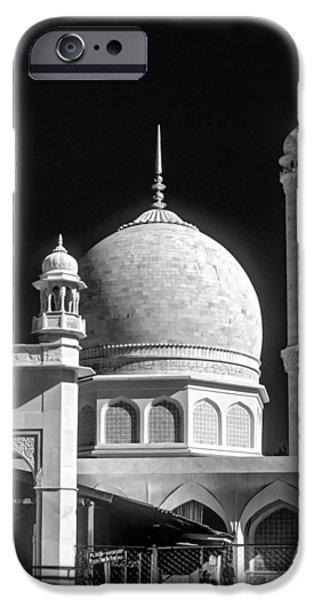 Vale iPhone Cases - Kashmir Mosque monochrome iPhone Case by Steve Harrington