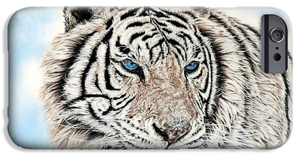 Animal Pastels iPhone Cases - Kashmire iPhone Case by Linda Becker