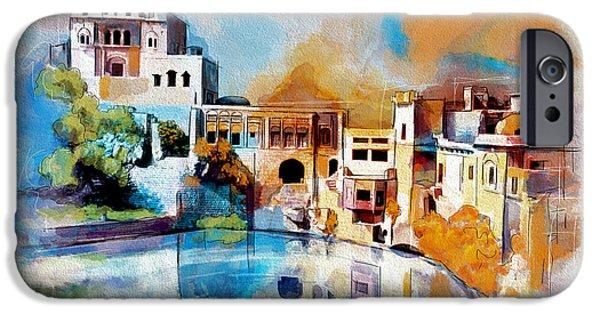Pakistan iPhone Cases - Katas Raj Temple iPhone Case by Catf
