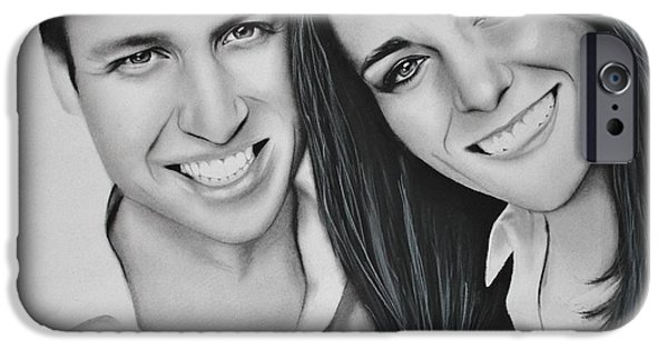 Kate Middleton iPhone Cases - Kate and William iPhone Case by Samantha Howell