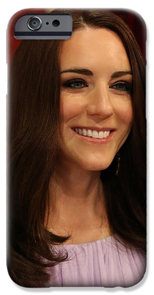 Prince William iPhone Cases - Kate Middleton Duchess of Cambridge iPhone Case by Lee Dos Santos