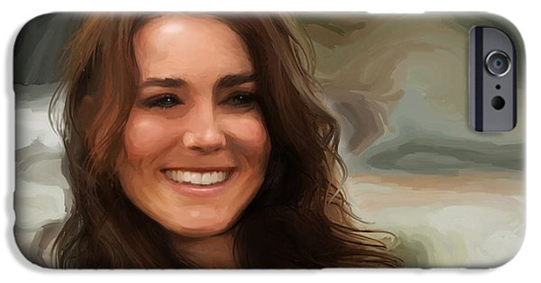 Kate Middleton iPhone Cases - Kate Middleton iPhone Case by Jennifer Hotai