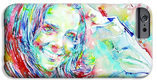 Duchess iPhone Cases - Kate Middleton Portrait.1 iPhone Case by Fabrizio Cassetta