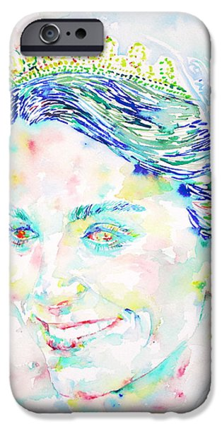 Duchess iPhone Cases - Kate Middleton Portrait.2 iPhone Case by Fabrizio Cassetta