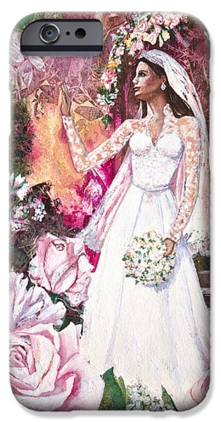 Kate Middleton iPhone Cases - Kate the Princess Bride iPhone Case by Patricia Allingham Carlson