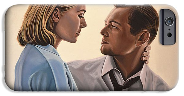 Kate iPhone Cases - Kate Winslet and Leonardo DiCaprio iPhone Case by Paul Meijering