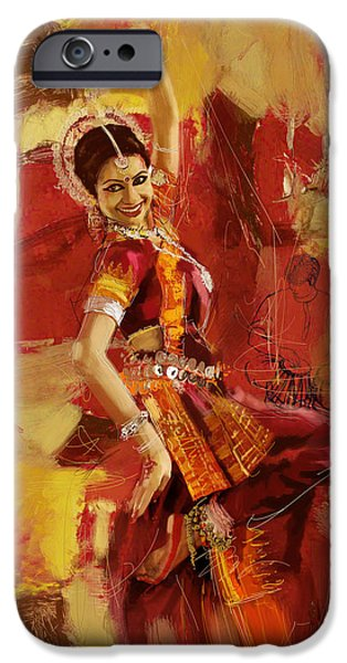 Corporate Art iPhone Cases - Kathak Dancer 6 iPhone Case by Corporate Art Task Force